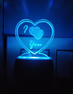 BG Bazzar Gali I Love You 3D Illusion LED Light Acrylic Night Lamp (Multicolour)