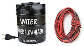 BG Bazzar Gali Water Tank Over Flow Alert Alarm Musical Alarm with 15 Meter Long Wire