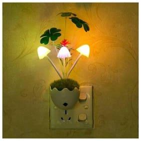 Bg bazzar gali Mushroom Light with Auto On/Off Sensor & LED Color Changer for Honeymoon Moon Light, Bedroom Night Light with Green Grass Night Lamp