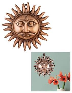 BG Bazzar GaliCopper Made Hanging Sun Idol Copper Hanging Surya Idol For Vastu;Good Luck;Success And Prosperity Hanging Sun Idol For Positive Energy ( 1Pc.)