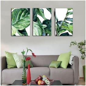 Bgyle Framed Canvas Painting (40 inch X 18 inch;set of 3)