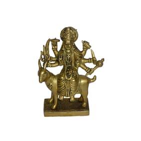 Brass Metal Meldi Maa in Fine Finishing Work by Bharat Haat BH01171