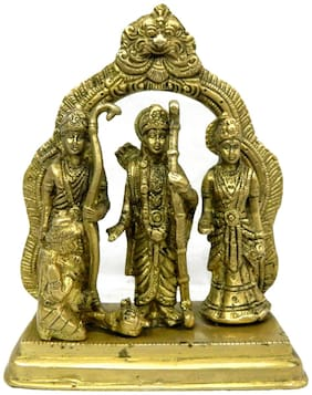 Pure Brass Metal Ram Darbar in Fine Finishing and Decorative art by Bharat Haat BH03866