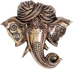 Bharat Haat Ganesha Face Brass Collectible Handicraft