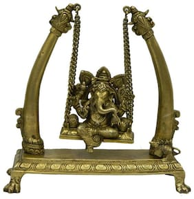 Pure Brass Metal Ganesh Jula in Fine Finishing and Decorative art by Bharat Haat BH03927