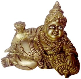 Statue Lord Kuber Dhan Bhandari with Excellent Carving Work Brass Metal by Bharat Haat BH00120