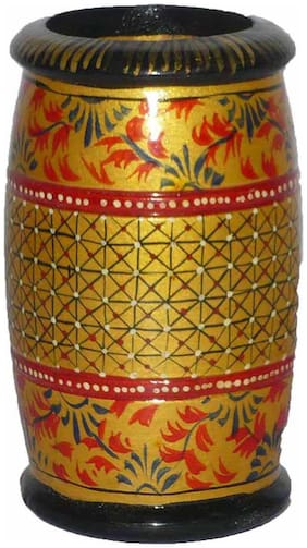 Made with wooden Material Pen Stand in Fine Finishing Work by Bharat Haat BH01128
