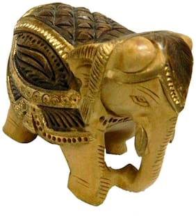 Elephant Small Wooden Handicraft India art by Bharat Haat BH02963