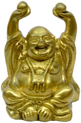 Bharat Haat Brass Laughing Buddha Fine collectible Statue 3299