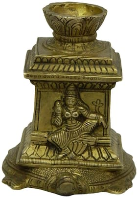 Pure Brass Metal Tulsi Kyao With Agarbati Stand in Fine Finishing art by Bharat Haat BH03915