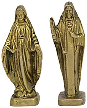 Brass Small Jesus mother and father pair Catholic Christian by Bharat Haat BH00654
