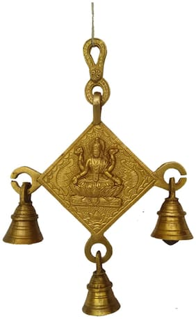 Pure Brass Metal laxmi bell hanging by Bharat Haat BH04879