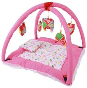 Bhoomi enterprises Cotton Fitted Mosquito Bedding Set ( Pink )