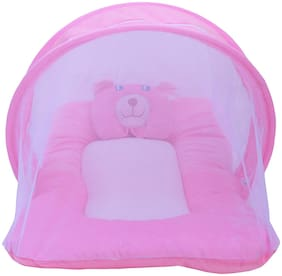 Bhoomi enterprises Cotton Fitted Bedding Set ( Pink )