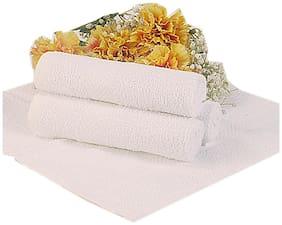 BIANCA 100% Cotton Egyption Face Towel ( Set of 4 ) EGYPTIAN WHITE SMALL 4 pc SET