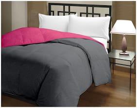 BIANCA Microfiber Solid Single Size Comforter Grey