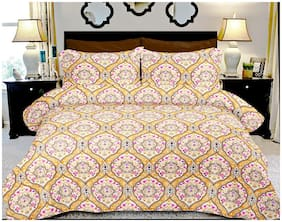 BIANCA Cotton Floral King Bedsheet ( 1 Bedsheet with 2 Pillow Covers , Multi )