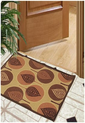 BIANCA Splender Door Mat With Nylon Fiber & High Density Rubber Backing Beige Regular