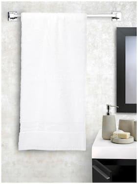 BIANCA 380 gsm GSM Cotton Bath towel ( 1 piece , White )