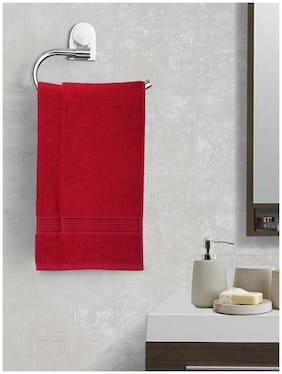 BIANCA 380 gsm GSM Cotton Hand towel ( 2 pieces , Red )