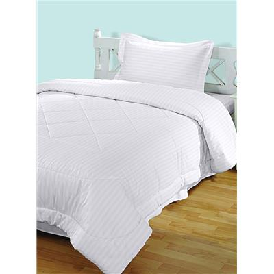 BIANCA Mercerized Hilton White Cotton Single Bedsheet With One Pillow Cover  (Set Of 2)