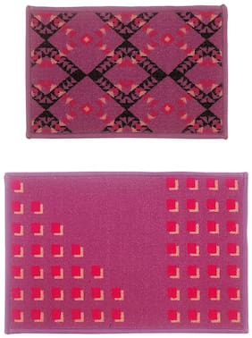 Bianca Tough-Thin Printed Door Mat With Non-Slip Rubber Backing -2Pc Set- (Splender) Abstract-Multi