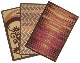 BIANCA Tough-Thin Printed Door Mat With Non-Slip Rubber Backing -3pc Medium set (splender) abstract-multi