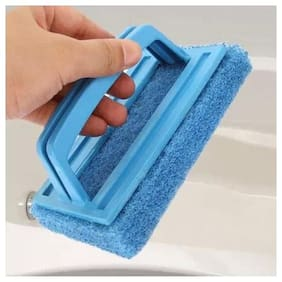 BIENVENUE 1 pc Tile Cleaning Multipurpose Scrubber Brush with Handle