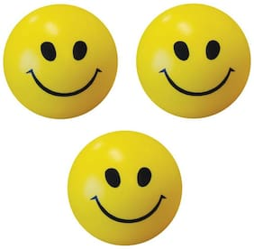 Bienvenue PACK OF 3 Smiley Ball for Home Decor and as Baby Toy