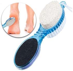 Bienvenue Pedicure Paddle 4 In 1 Brush Cleanse, Scrub, File And Buff Multicolored