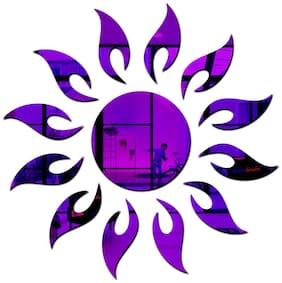 Bikri Kendra - Sun 13 Flame Purple - 3D Acrylic Mirror Wall Stickers