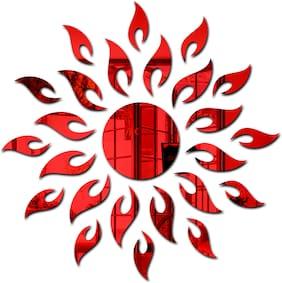 Bikri Kendra - Red Sun - 3D Mirror Acrylic Wall Stickers Decorative