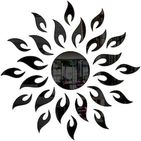 Bikri Kendra - Sun Black - 3D Acrylic Decorative Mirror Wall Stickers