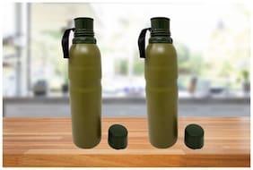 BINCY 750 ml Stainless steel Green Vaccum flask - Set of 2