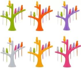 Bird Fork;Multicolour (1 Stand;6 Forks)