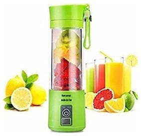 BK 10 IMPORT & EXPORT Rechargeable USB Mini Juicer Bottle Blender for Making Juice, Shake, Smoothies with Power Bank & USB Cable (Multi Colour)