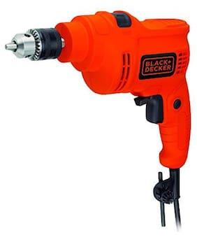 Black+Decker KR5010V 550 Watt 10mm Variable Speed Hammer Drill (Red & Black)
