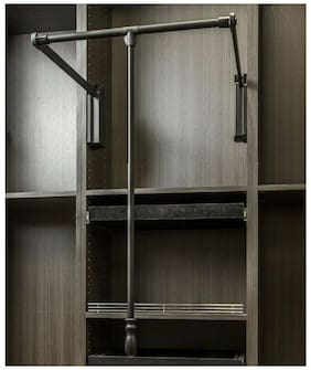 "Black Powder Coat -Soft-close 33"" - 48"" Expanding Wardrobe Lift"