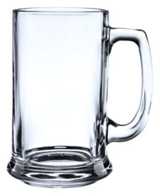 BLinkMax Glass Mug(525 ml, Clear, White, Pack of 2)