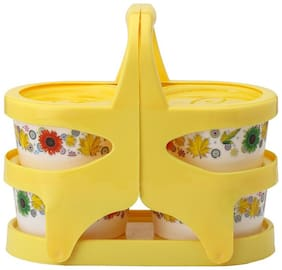 Bloom Kitchen Classic Plastic/Glass Yellow Bowl Set(fnt3985)
