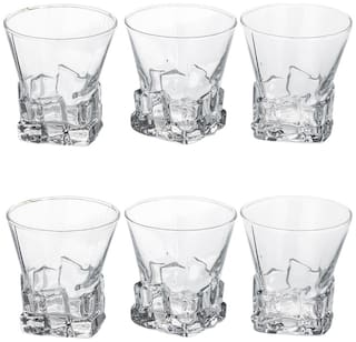 Bloom Tumbler Glass With Self Designe (Set Of 6 Glasses)