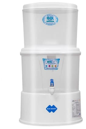 Blue Mount White Idol Star Non Electric Gravity UF Water Purifier & Silver Boost (18 L)