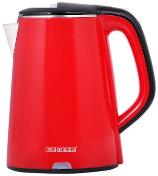 Blue Sapphire King Double Layer Metal Electric Kettle  (2.0 L, Red)