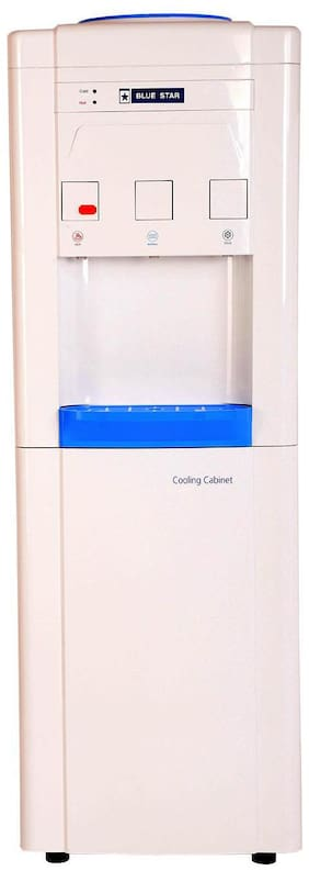 Blue Star Star Hot, Cold and Normal Water Dispenser with Refrigerator