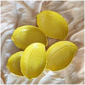 BlueLiner International Yellow Quarter Plate - Set Of 6