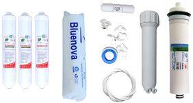 Bluenova RO Service kit including Hi-Tech Inline set, Hi-tech 80 GPD membrane and Other accessories