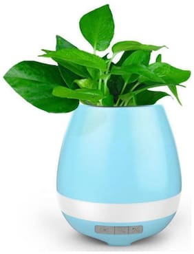 Bluetooth Musical Sound On Touching Plant Leaf Outdoor Flower Pot (1Pc) Multicolor