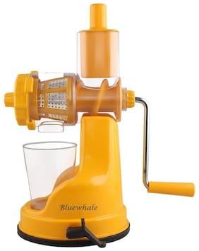 Bluewhale Bluewhale New Super Delux Fruit & vegitables Hand juicer With Steel Handle (orange). Plastic, Steel Hand Juicer  (Orange Pack of 1)