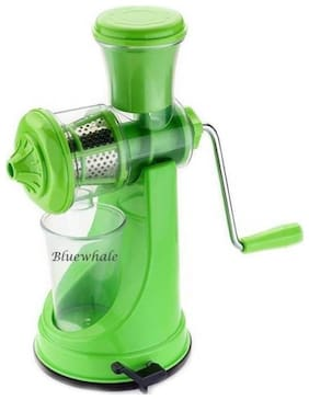 Bluewhale Green with Steel Handle Fruit & Vegetable Juicer Plastic, Steel Hand Juicer  (Green)