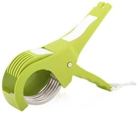 Bluewhale New 2in1 Veg. cutter Green Vegetable & Fruit Chopper  (1 2IN1 VEG. CUTTER)